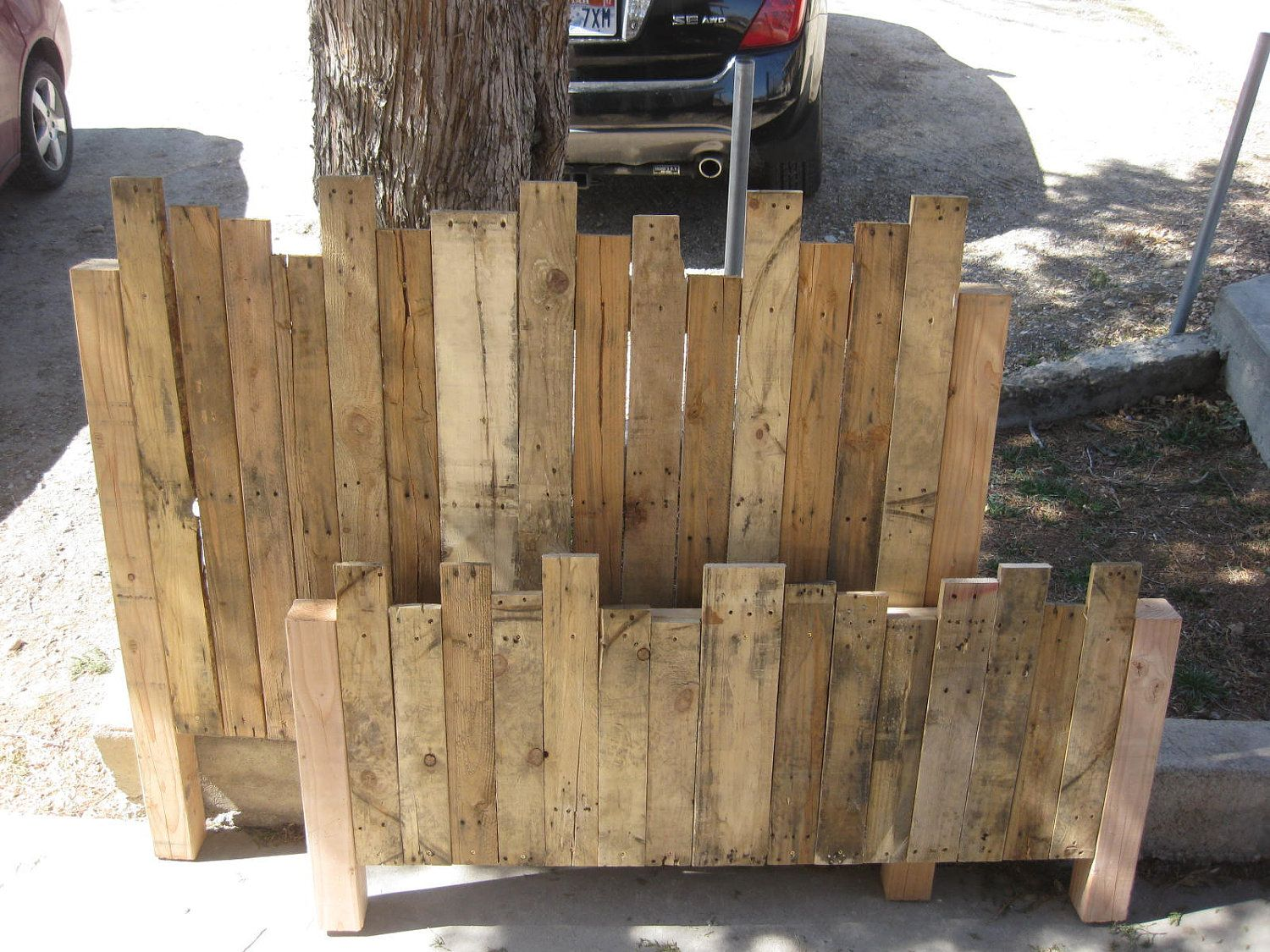 Pallet Headboard and Foot board. $250.00, via Etsy.   All About ...