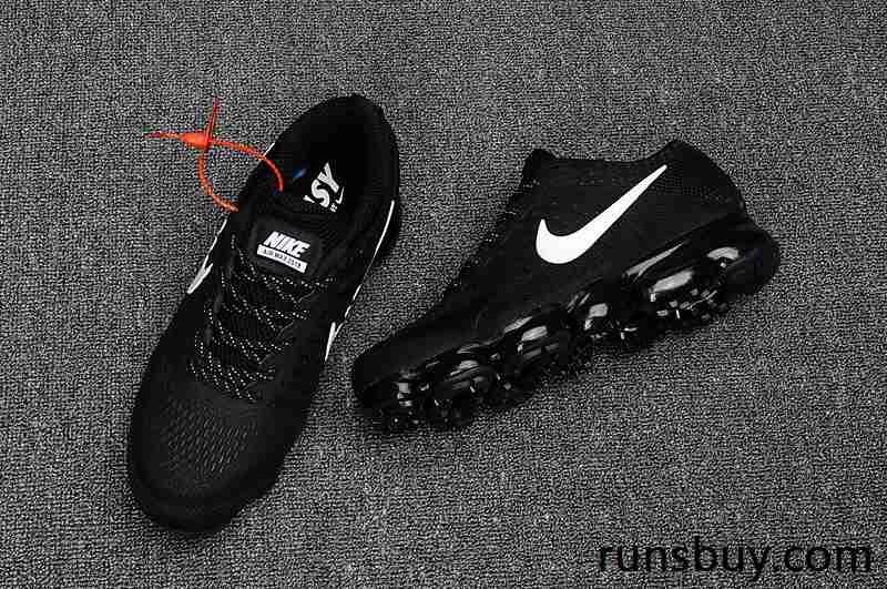 421a82a18cc6 New Coming Nike Air VaporMax 2018 KPU Black White Women Men (36-47 ...
