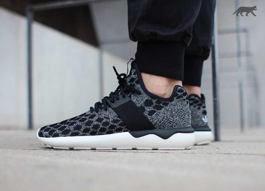 Adidas Originals Tubular Runner Primeknit Snake Black,adidas