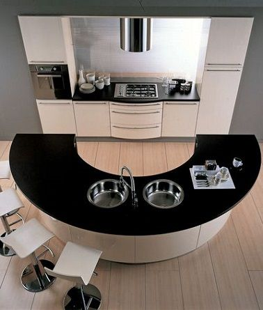 cuisine ouverte avec lot central arrondi schmidt lot de cuisine pinterest cuisine. Black Bedroom Furniture Sets. Home Design Ideas