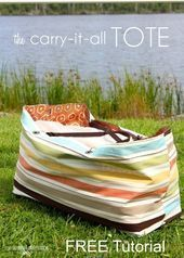 The Carry It All Reversible Tote Bag  FREE Tutorial  Sew Modern Bags FREE ext The Carry It All Reversible Tote Bag  FREE Tutorial  Sew Modern Bags FREE extra large tote b...