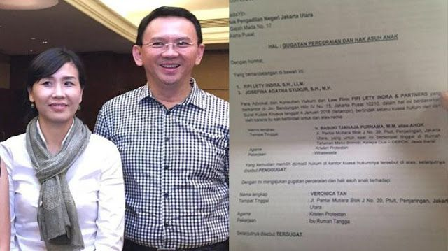 Ahok Gugat Cerai Istrinya Veronica Tan Detik Berita Net Mantan Gubernur Dki Jakarta
