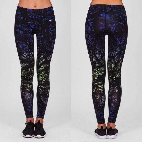 e0897b5c89ab4f Nike Enchanted Forest Print Leggings Sleek and stylish, the Nike Engineered  Print Running Tights were
