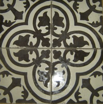Cuban Tropical Tile Co Manufacturer Of Handmade Cement Tiles Cluny In Black And White