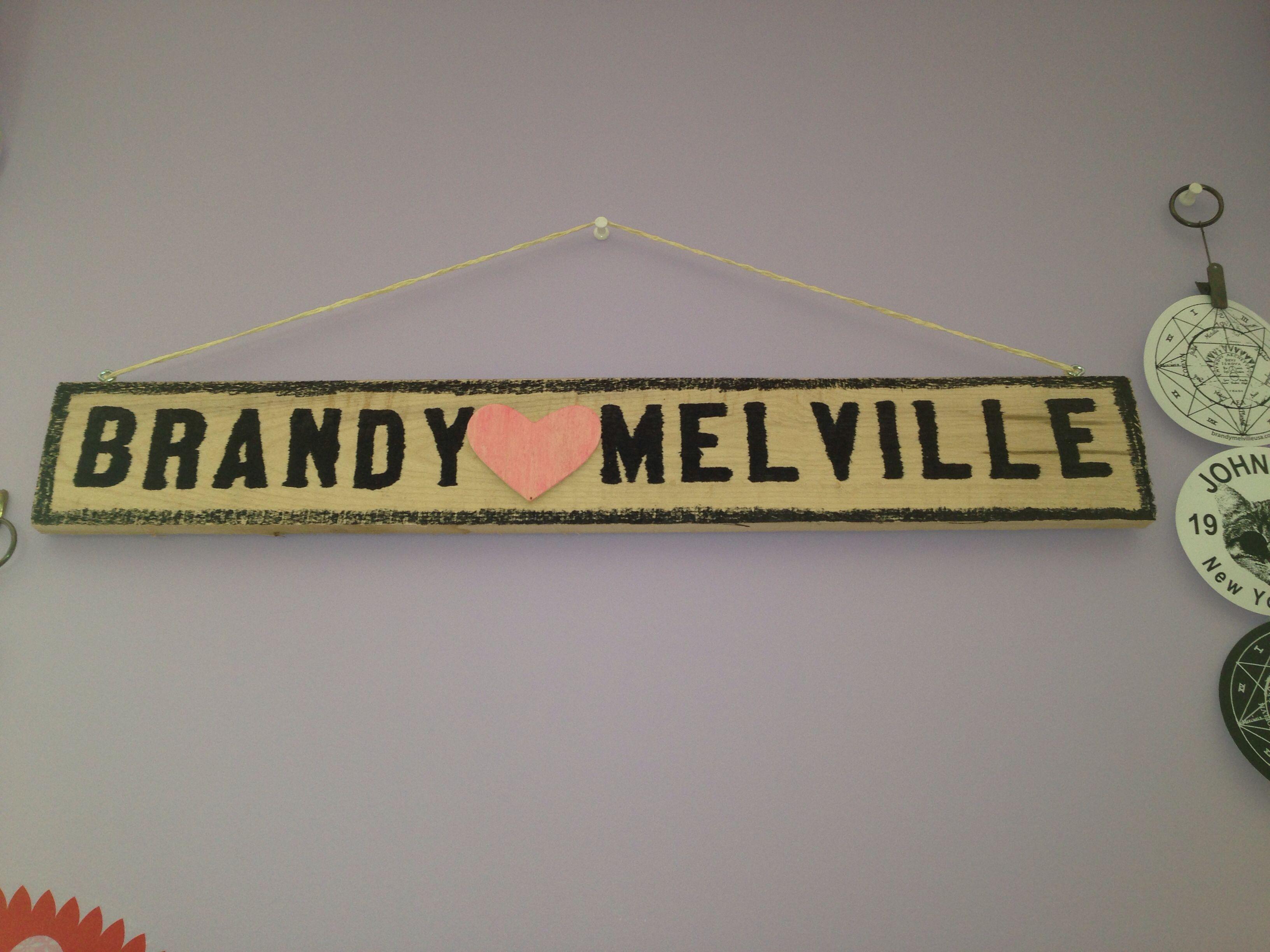 Diy Brandy Melville Sign Materials Wood Sharpie Pink Paint