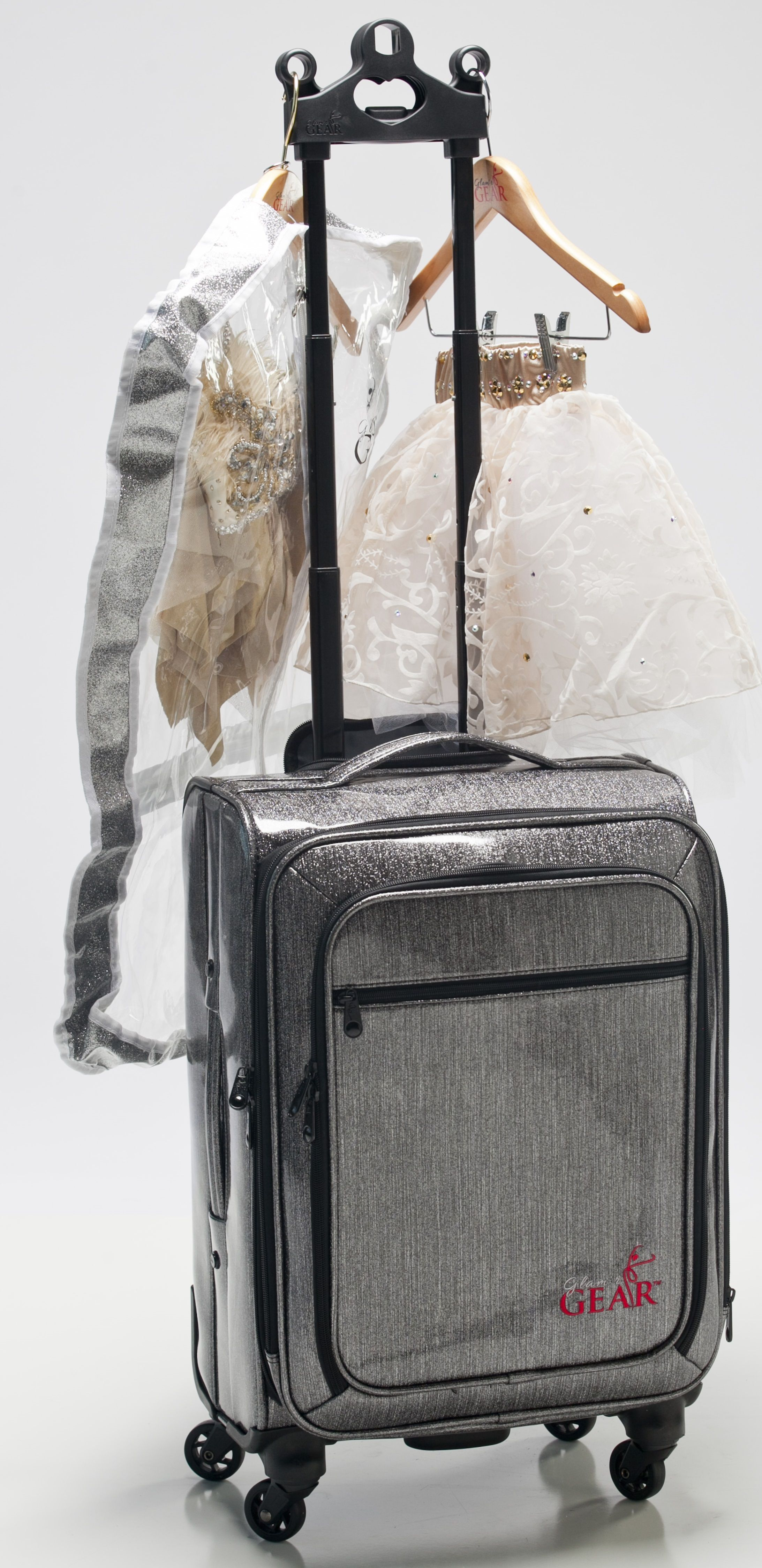 Glam R Gear Solo Dance Bag The Newest Line Of Rolling Bags With Rack For Company Designed To Hold 1 3 Costumes A Carry On Twist