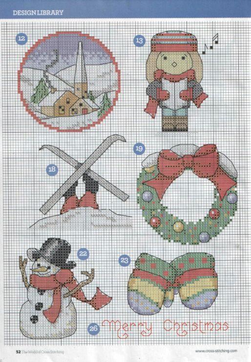 Christmas motifs part 3 free cross stitch patterns
