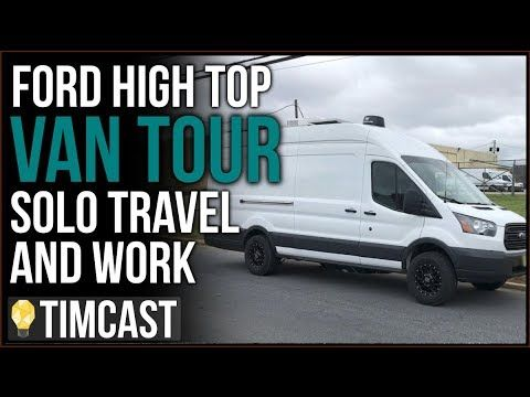 Van Tour Solo Travel Solar A C Shower Bathroom Timcast