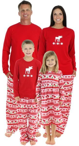 4afe6aaf3b SleepytimePjs family matching Christmas Moose pajamas bring the entire  family together! Sip on hot chocolate by the fire and pose for your holiday  cards in ...