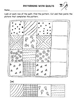 Patterning With Quilts worksheet Preschool Quilt