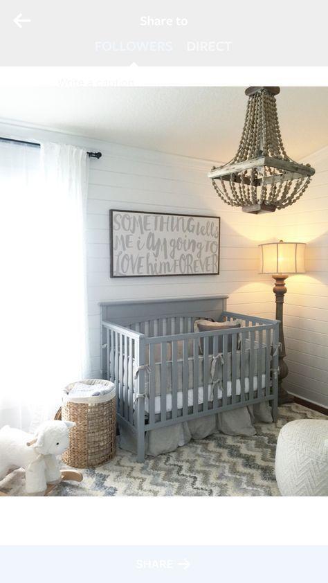 Nursery Ideas Shiplap Grey White Neutral House Of Belongings