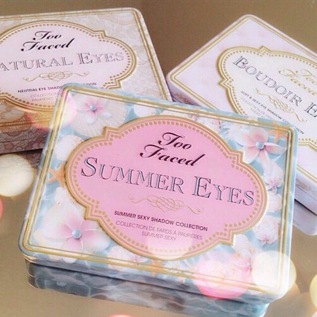 Too Faced Summer Eyes, Natural Eyes, and Boudoir Eyes palettes