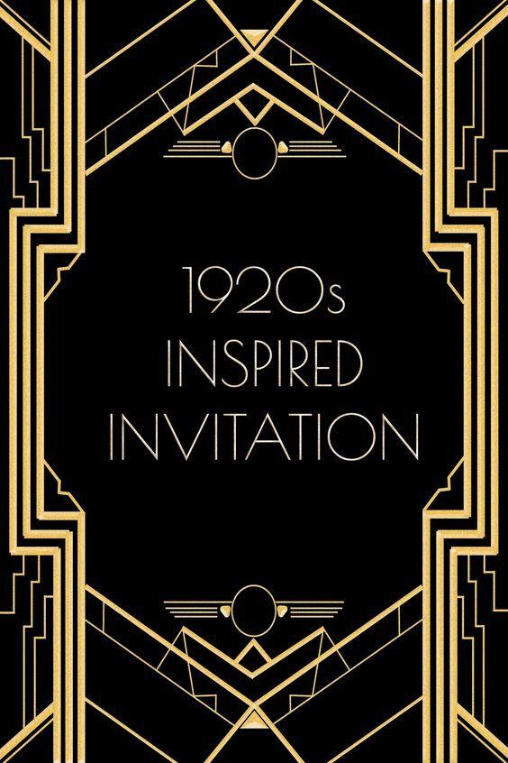 Great Gatsby Invitation Template Great Gats Invitation Template