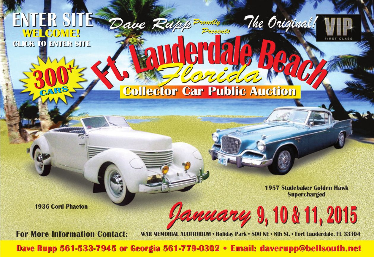 Ft. Lauderdale Collector Car Auction, Presented By Dave Rupp! | Car ...
