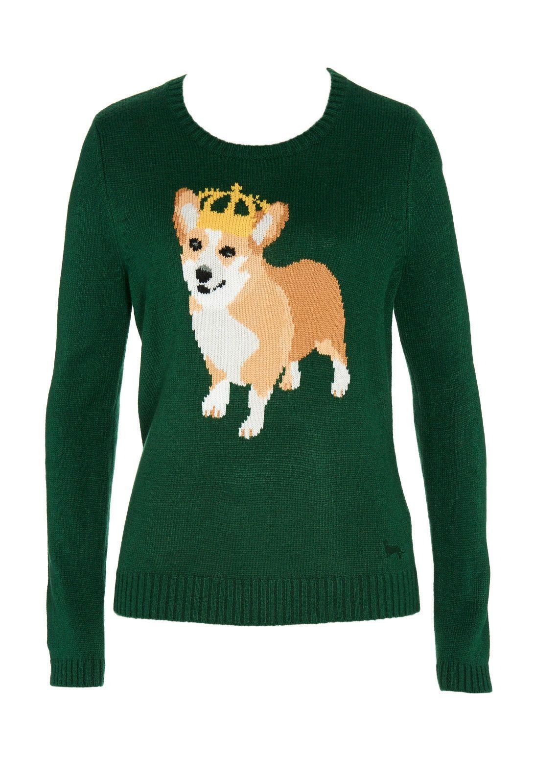 bc6d9348ec9bc What. A corgi sweater. A corgi in a CROWN. So yes
