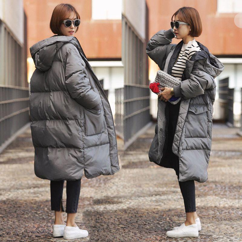 Women Winter Cotton Outwear New Warm long Padded Jacket Coat Down Hooded Loose!
