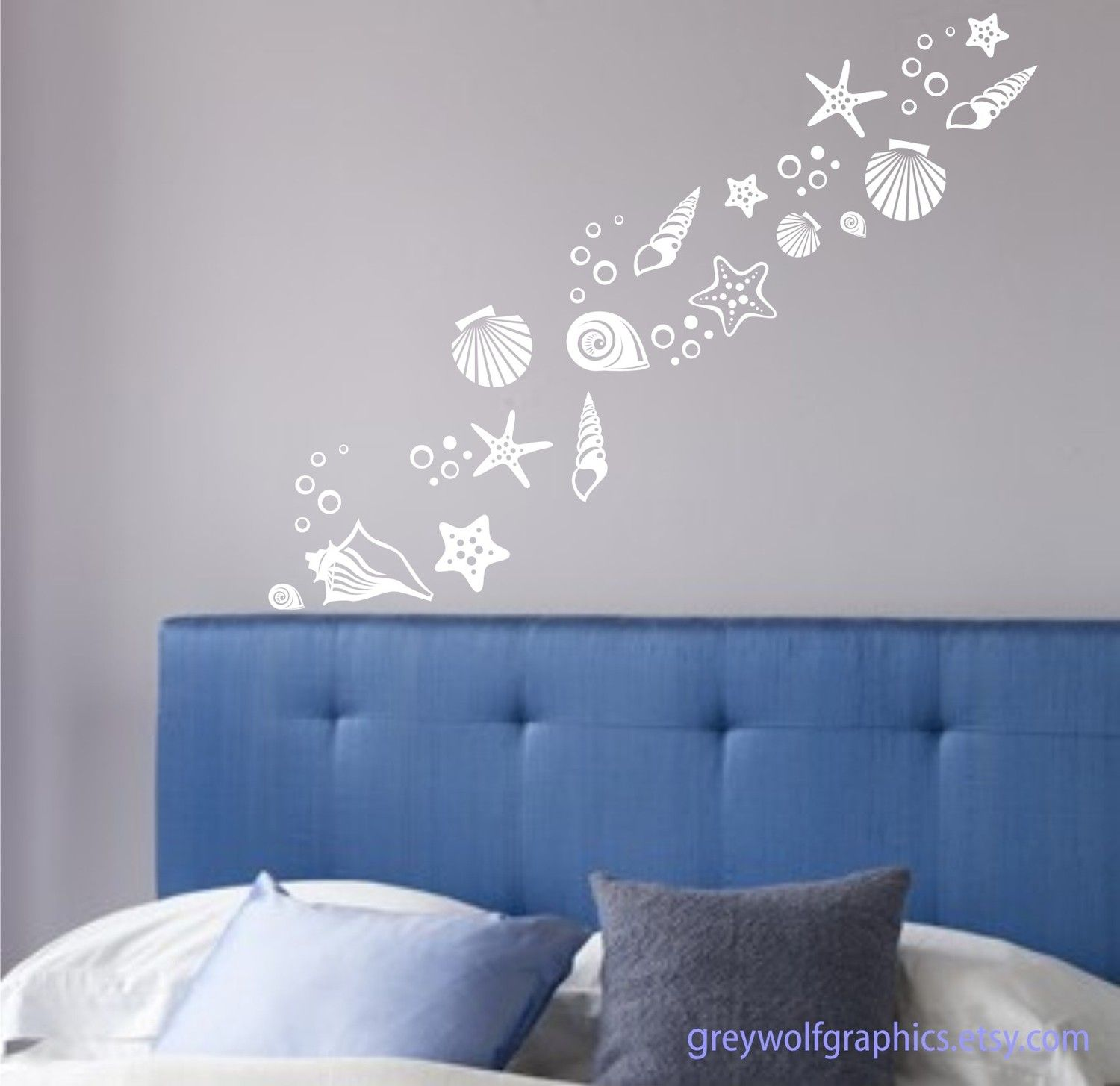 Beach Shells Wall Decals Set Of Over 30 Various Shell Designs