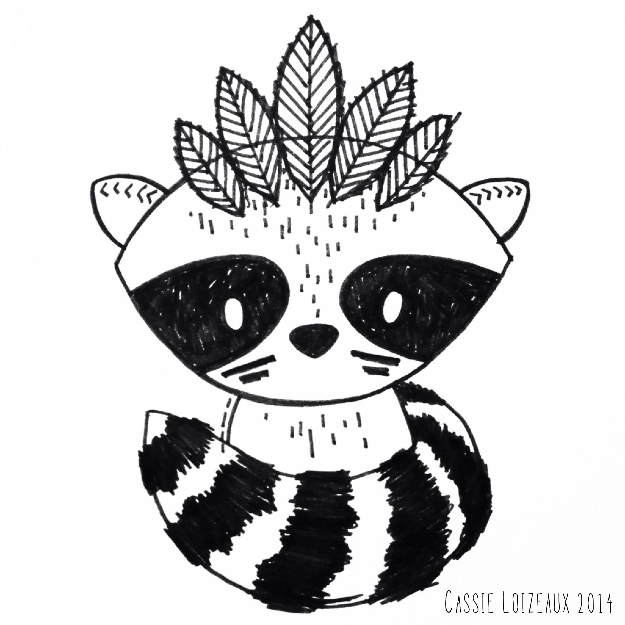 raccoon warrior day 85 of yearlong sketchbook project cassie