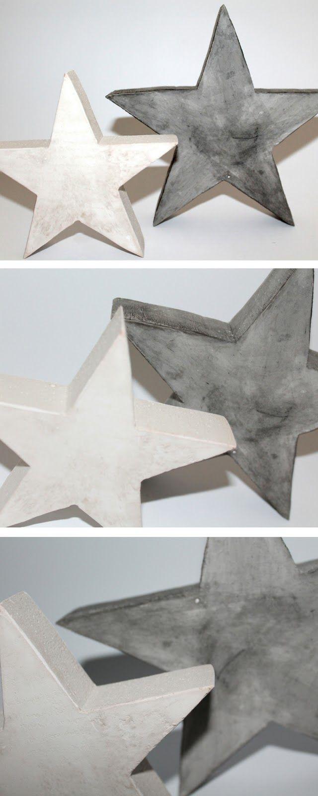 ☆ coole weihnachtsdekoration: diy gips / beton sterne selbst gießen