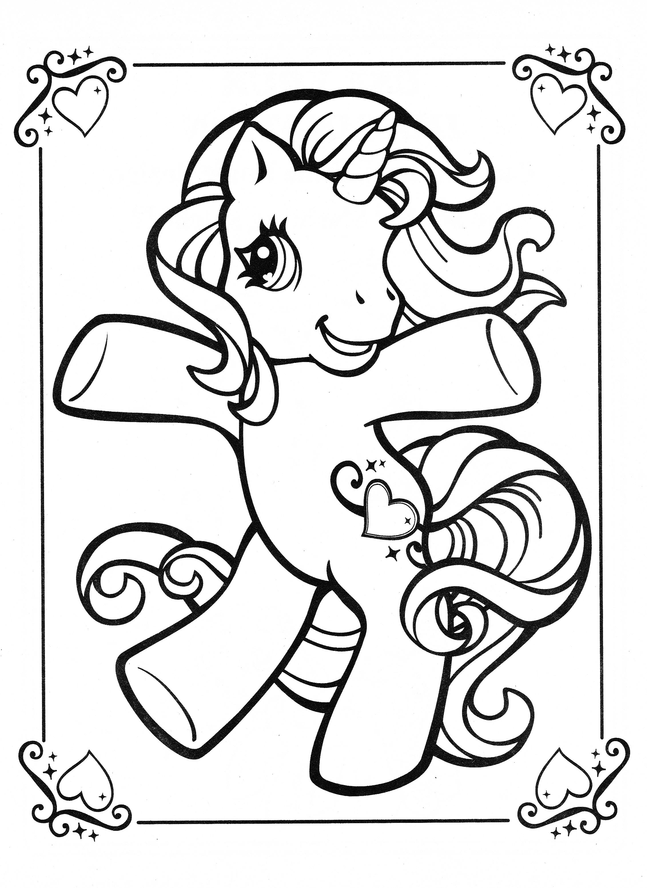 My Little Pony Coloring Page My Little Pony Coloring Horse