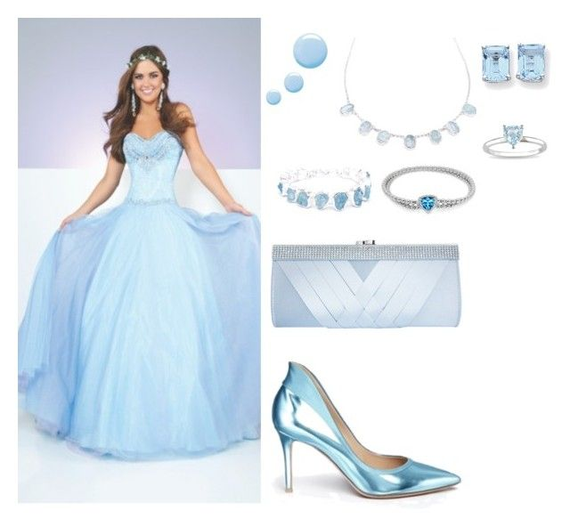 """Baby blue homecoming"" by mehrak ❤ liked on Polyvore featuring Topshop, Poppy Jewellery, Gianvito Rossi, Kevin Jewelers, Miadora and GCGme"