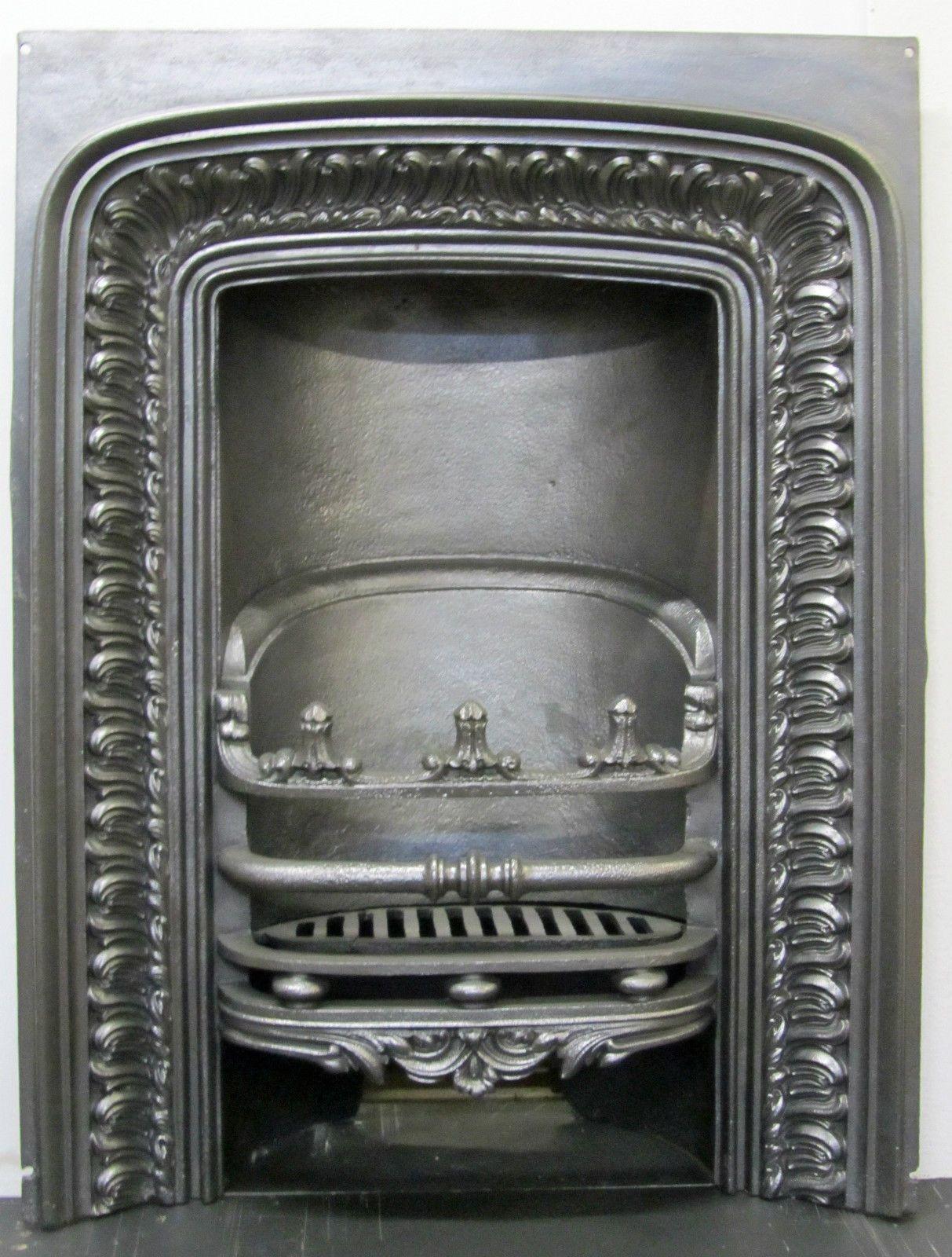 Decorative Antique Victorian Cast Iron Insert Fireplace Antique Fireplace Surround Antique Fireplace