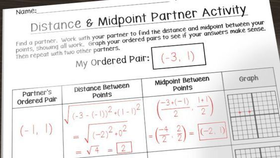 Having Fun With Distance And Midpoint With Images Learn Math