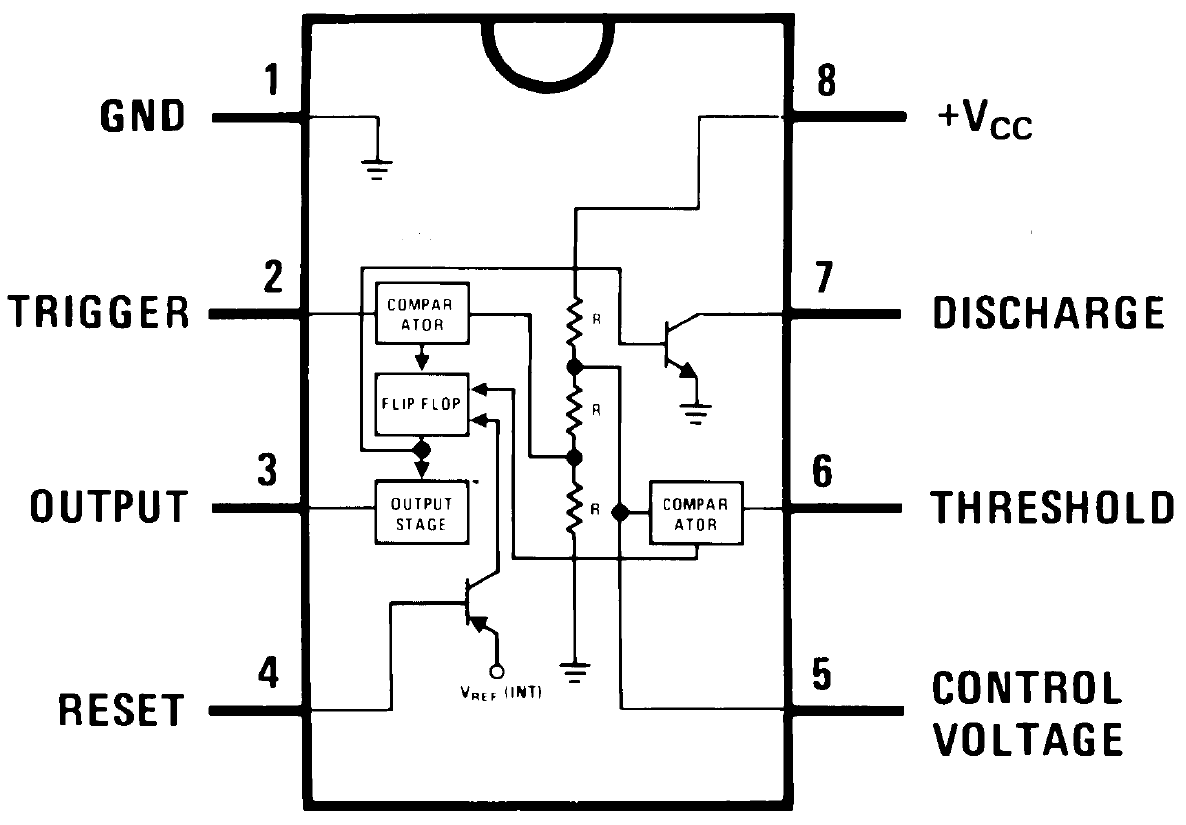 Circuito Integrado 555 Como Astable Electronics In 2018 Circuit Diagram