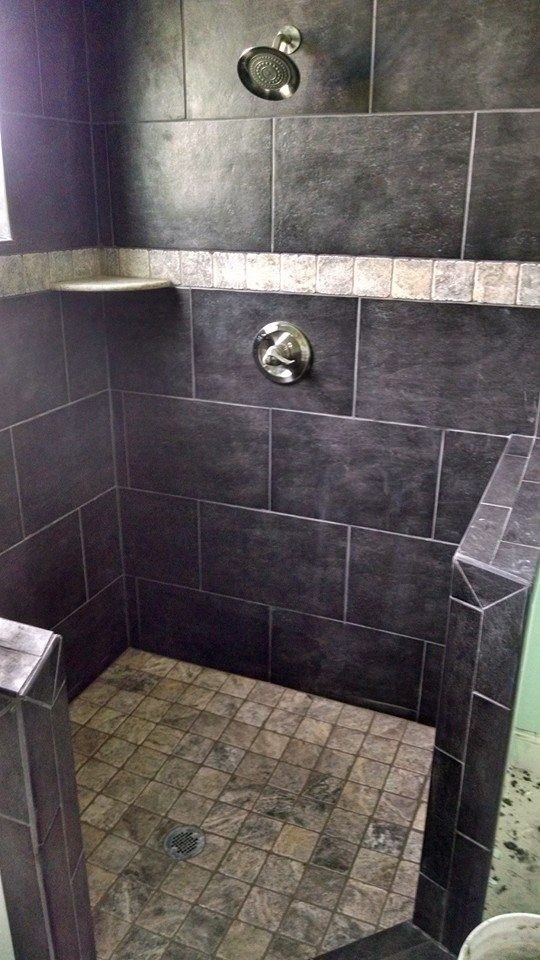 "Bathroom Faucets Jamaica domino jamaica preto 13x20"" wall tile with lava love 4x4"" accent"