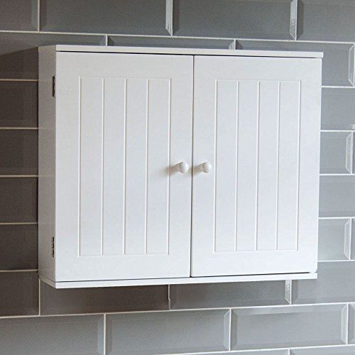 . Home Discount Bathroom Cabinet Double Door Wall Mounted Storage