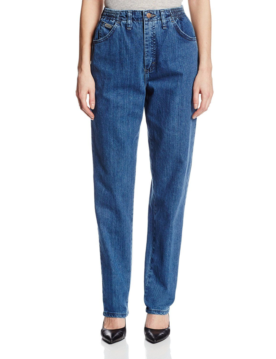e4ce573f33b8b Lee Women s Relaxed-Fit Side Elastic Tapered-Leg Jean     This is an ...