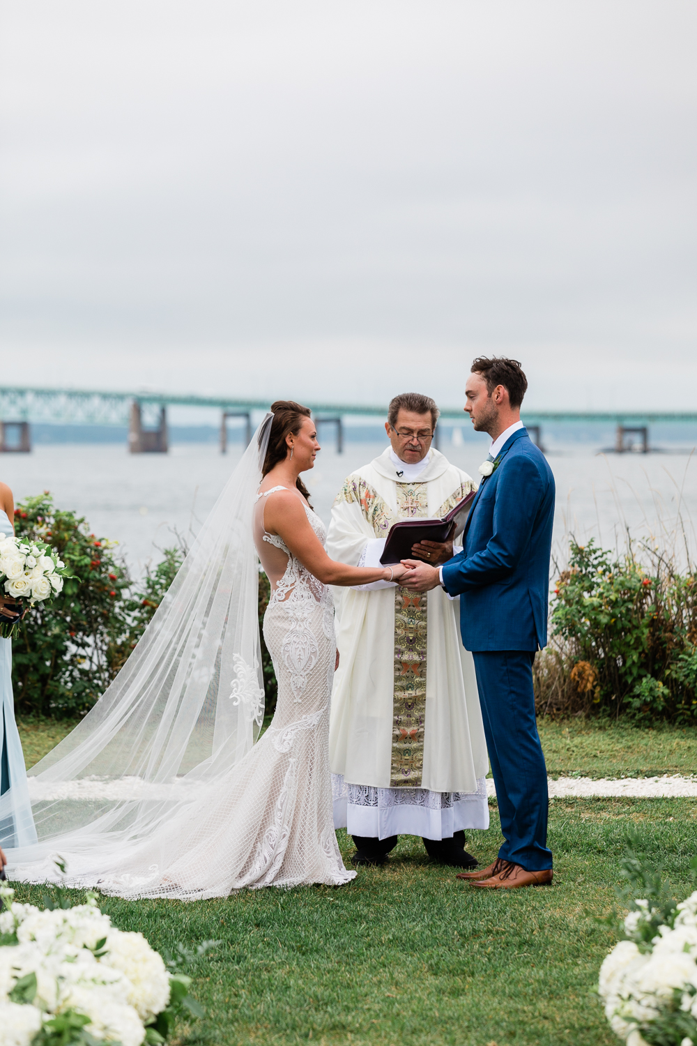 Gurney S Newport Wedding Lovely Valentine In 2020 Newport Wedding Groom And Groomsmen Attire Pnina Tornai Bridal