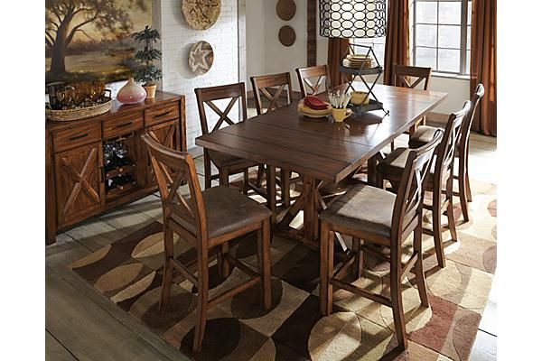 Room The Waurika Counter Height Extension Dining Table