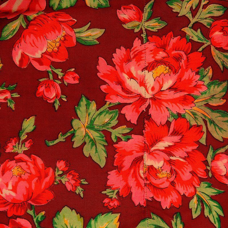 Tkanina Tybetowa Rose Embroidery Pattern Polish Embroidery Folk Illustration
