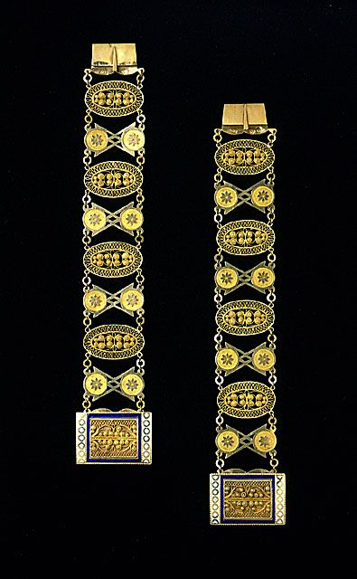 Pair of Bracelets, Sweden, Stockholm  circa 1800, LACMA Collections Online