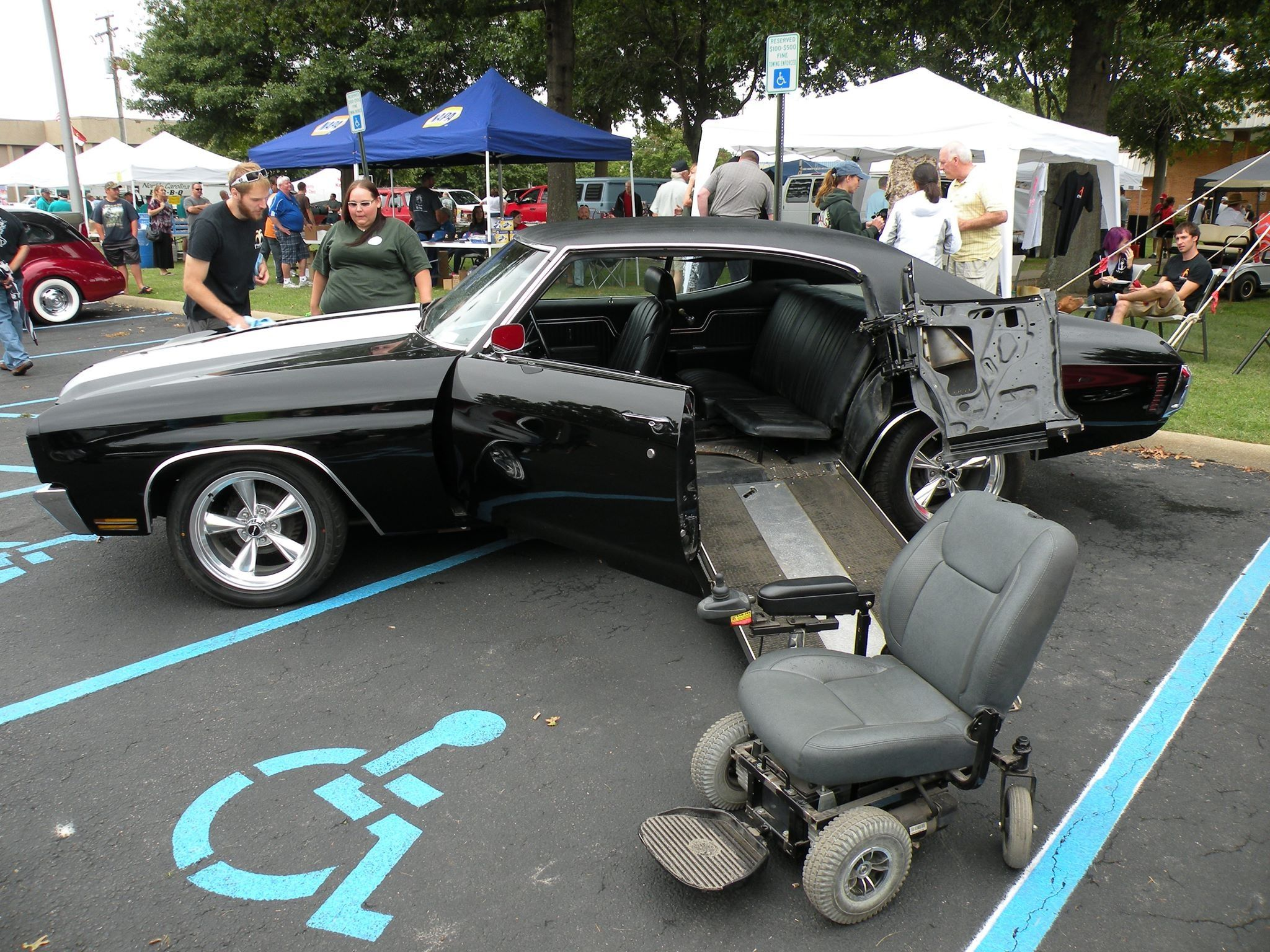 Handicap Bathroom Video On Facebook 70 chevelle wheelchair accessible. solid. (via usa-1, facebook