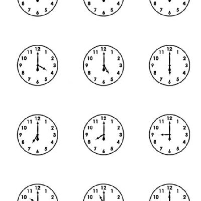 Printable Clock Faces {Free Printable Worksheets} (With
