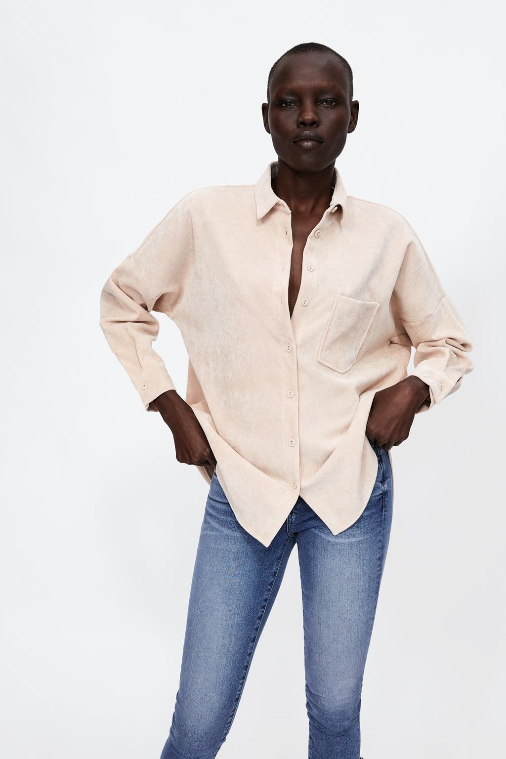 e2a0b990fcd Image 2 of FINE CORDUROY SHIRT from Zara | fall 2018 | Shirts ...