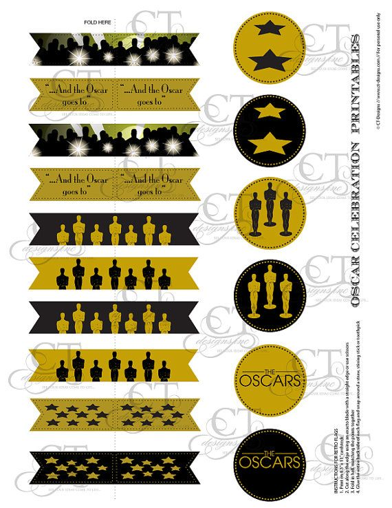academy awards    oscars party printables by ctdesignswed