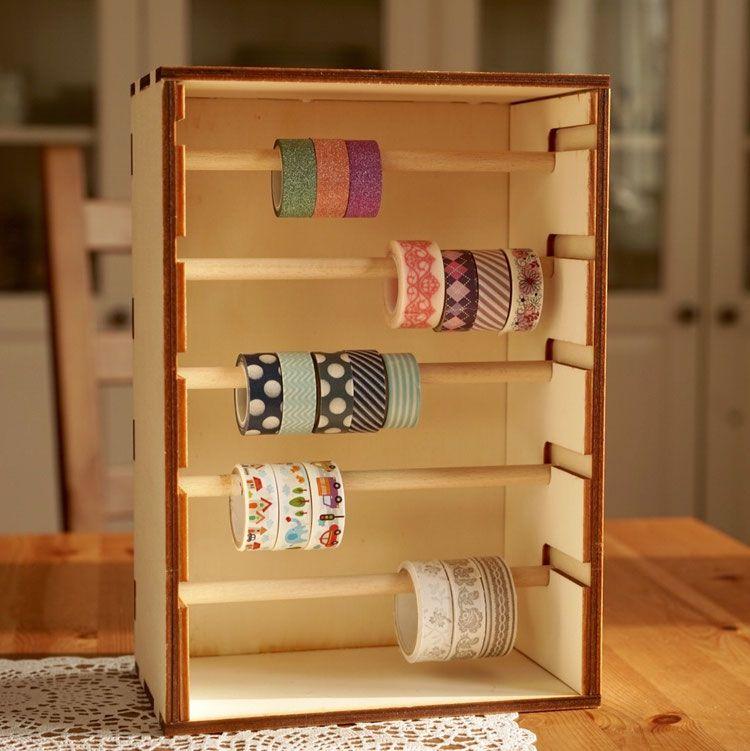 washi tape rack bastel aufbewahrung. Black Bedroom Furniture Sets. Home Design Ideas