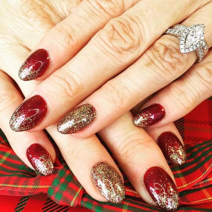 80 Inspiring Holiday Nail Art Ideas that are Just Wow | Maroon nails ...