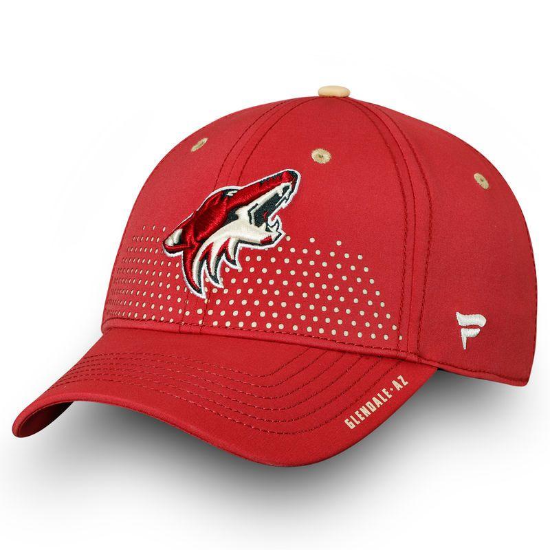 new style fc0ae 384bc Arizona Coyotes Fanatics Branded 2018 Draft Flex Hat– Garnet Arizona  Coyotes, Garnet, Caps
