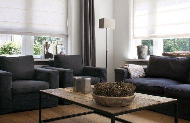 Afbeeldingsresultaat voor gordijnen landelijk strak | living room ...