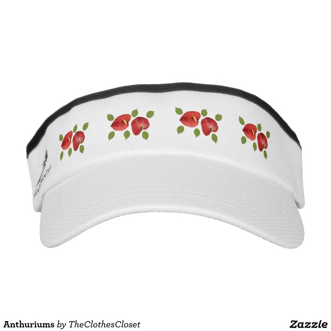 6dc9c261231 Anthuriums Visor. Anthuriums Visor Basketball Design