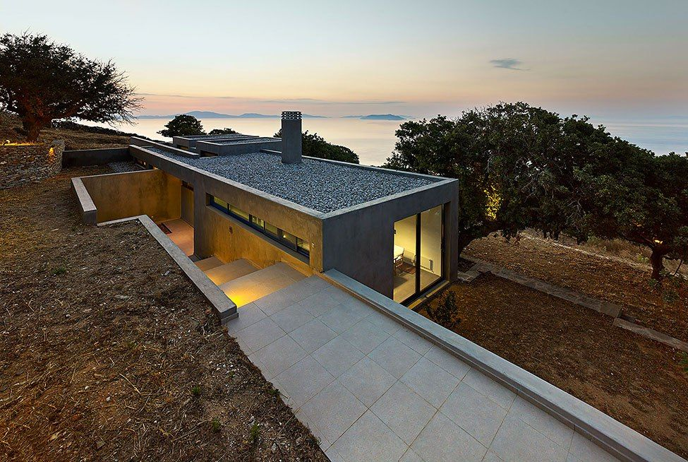 architecture interiors - Greek Modern Home Architecture Design