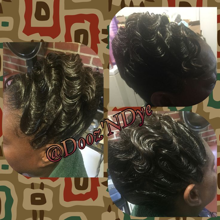 French Roll And Finger Waves Black Hair Updo Hairstyles