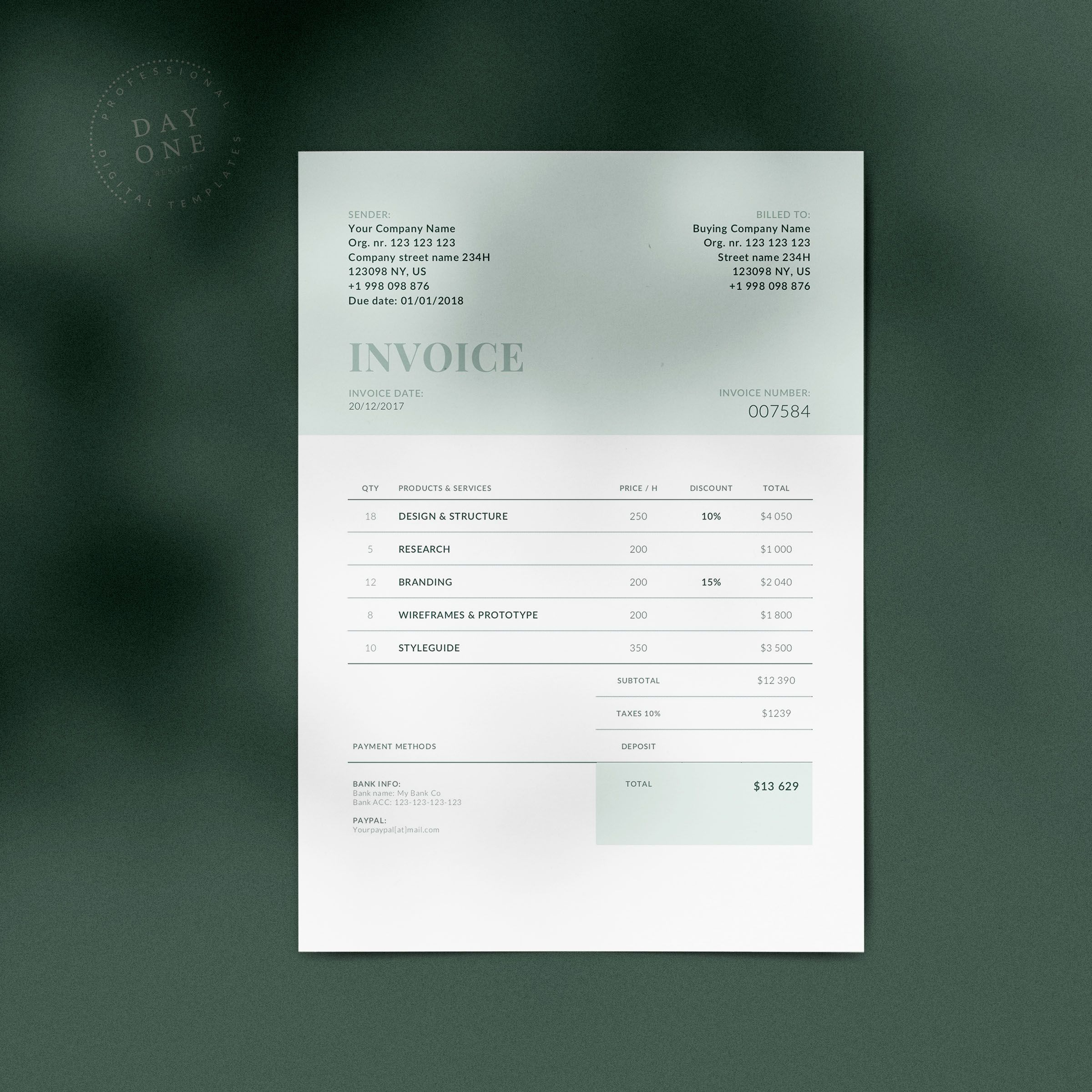 Invoice Template Made In England Invoice Design Template Invoice Design Invoice Template