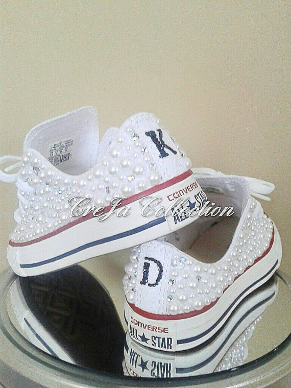 💎These custom Converse come in any color or size. They can be worn on a  normal basis or a special occasion. 💎The price includes the shoes 6da797353