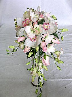 Bride Wedding Bouquet Teardrop Flowers For The Cymbidium Orchids Singapore Or