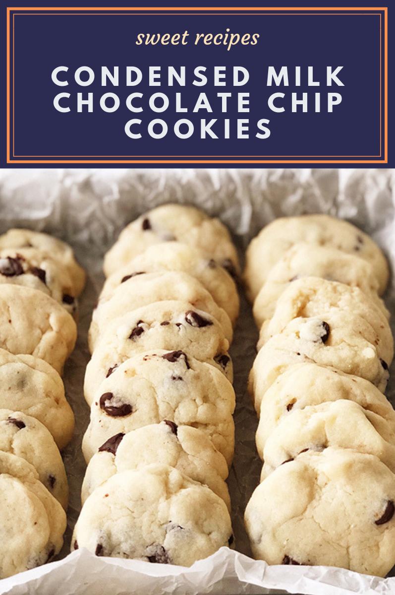 Condensed Milk Chocolate Chip Cookies Milk Chocolate Chip Cookies Cookies Recipes Chocolate Chip Milk Recipes Dessert